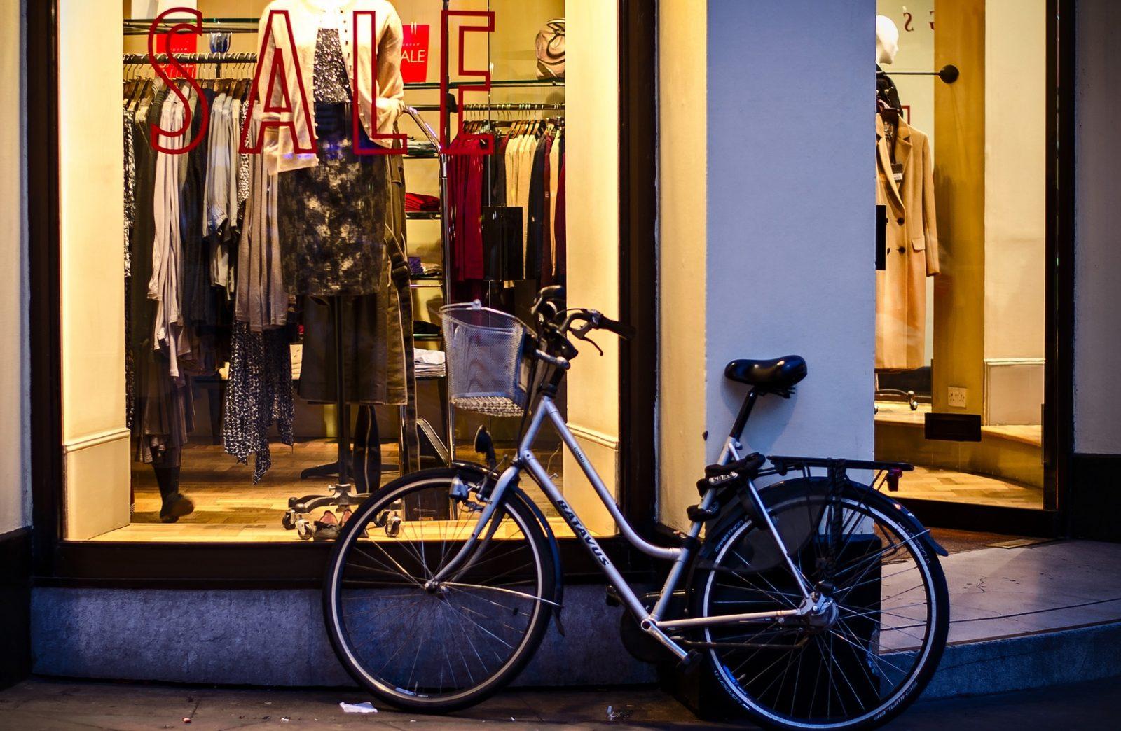 Zakupy na rowerze, rower miejski