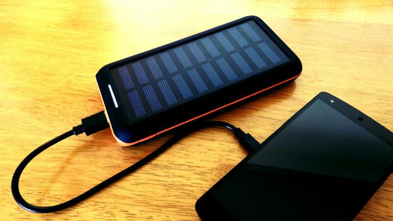 Panel słoneczny ładowanie telefonu
