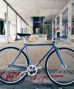 Rower single speed niebieski