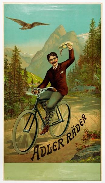 Historia roweru, plakat rowerowy