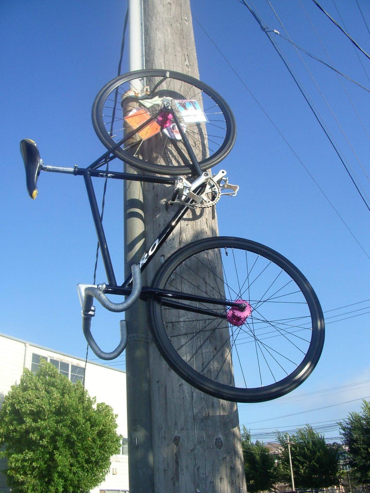 Alternatywny wieszak na rower