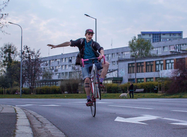 rowerzysta weWrocławiu