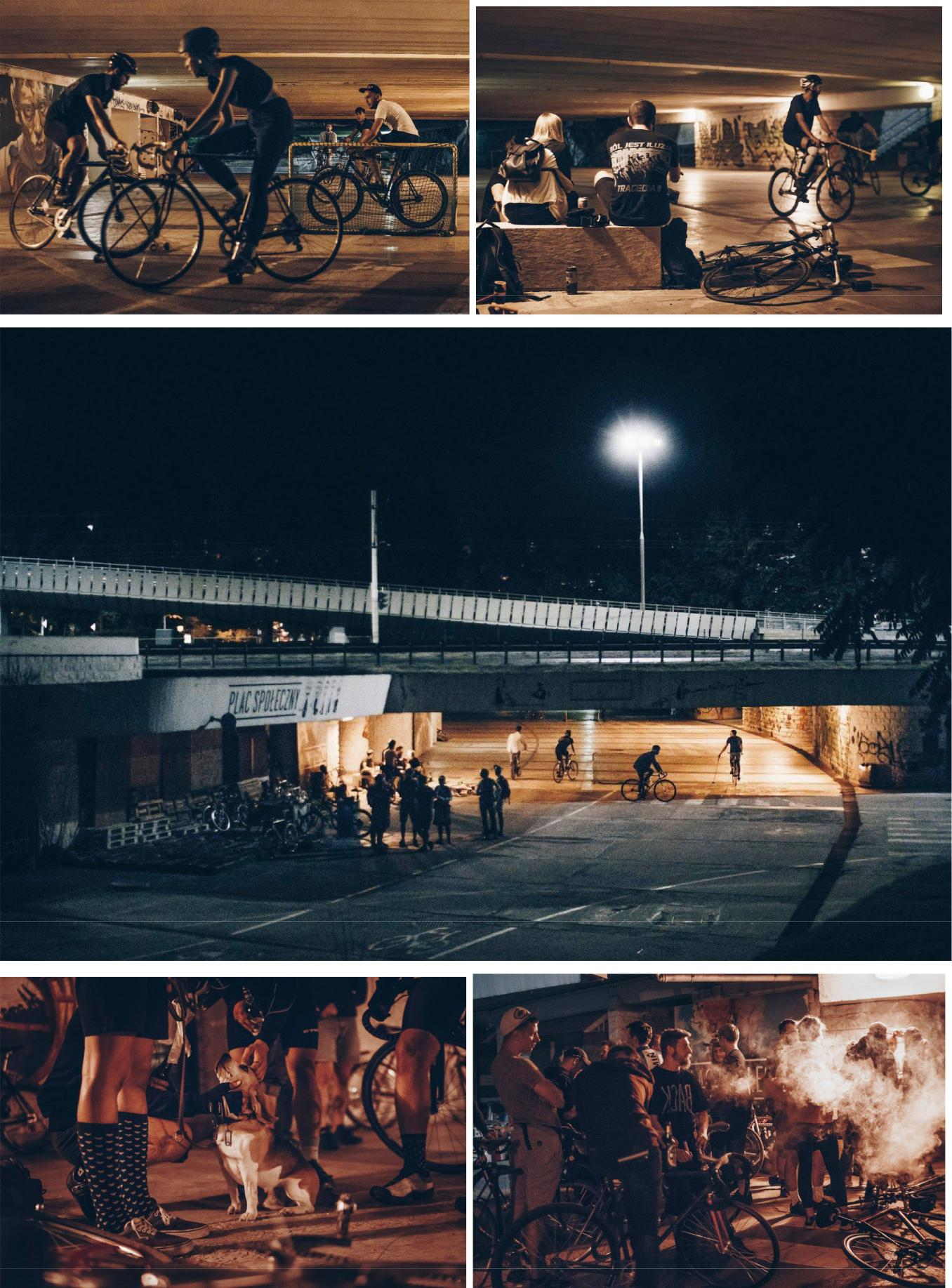 rowerowy Wrocław nocą