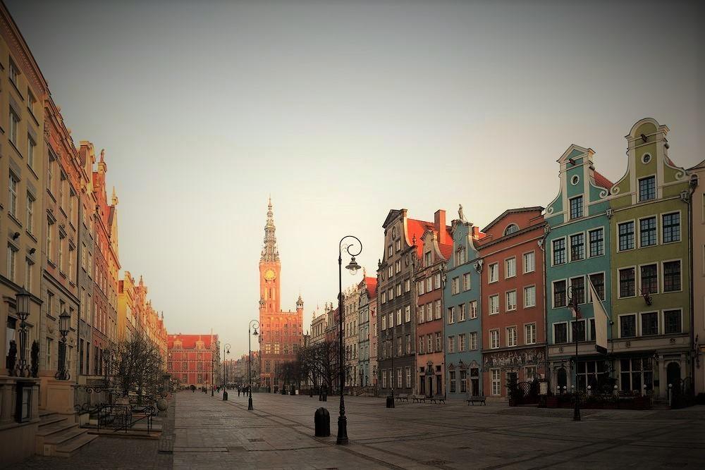 widok na katedrę w gdańsku