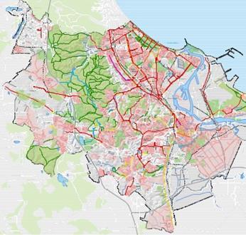 mapka ścieżek rowerowych wgdańsku