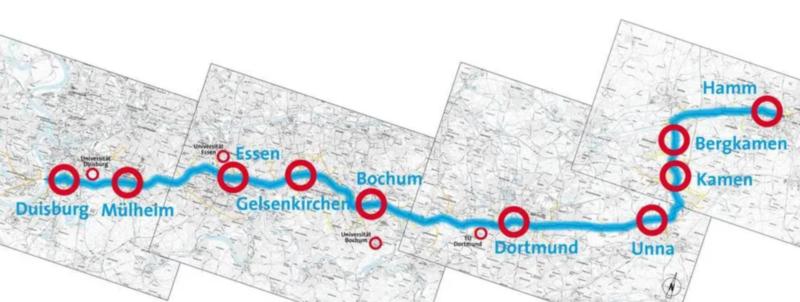 Rowoerowa autostrada Duisburg Hamm Niemcy