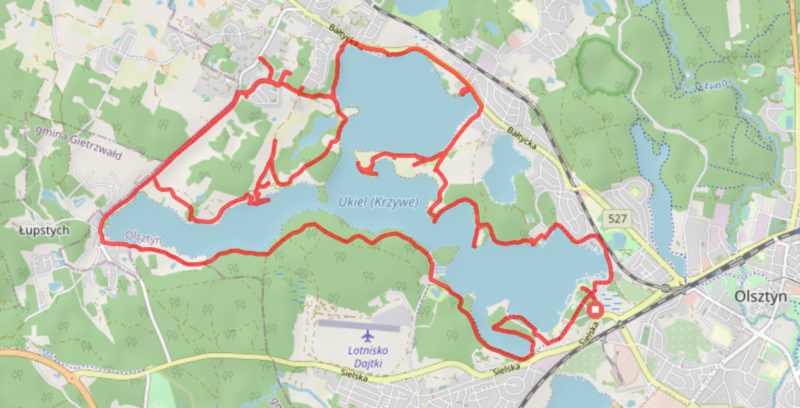 Ścieżka rowerowa jezioro Ukiel