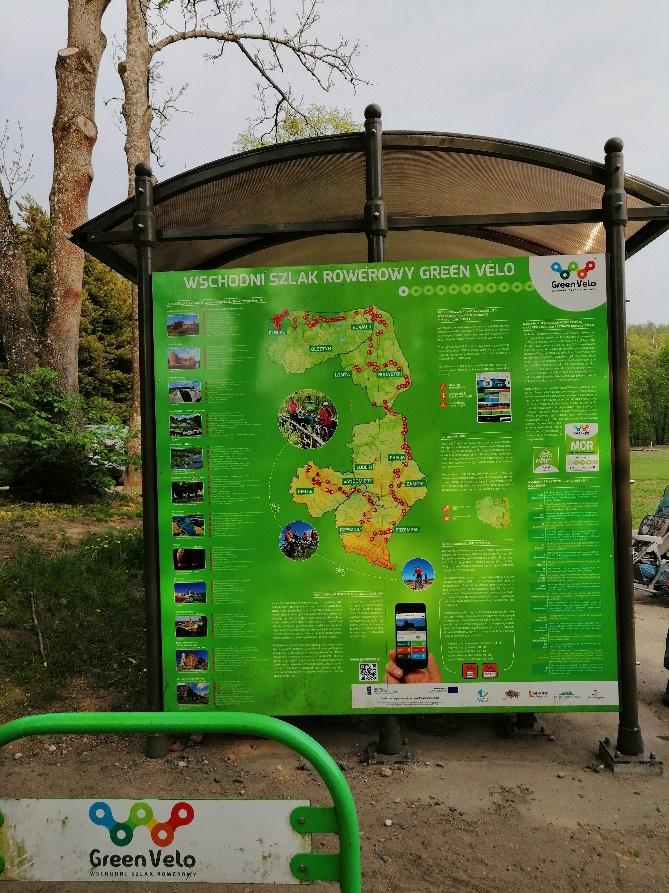 informacyjna tablica rowerowa