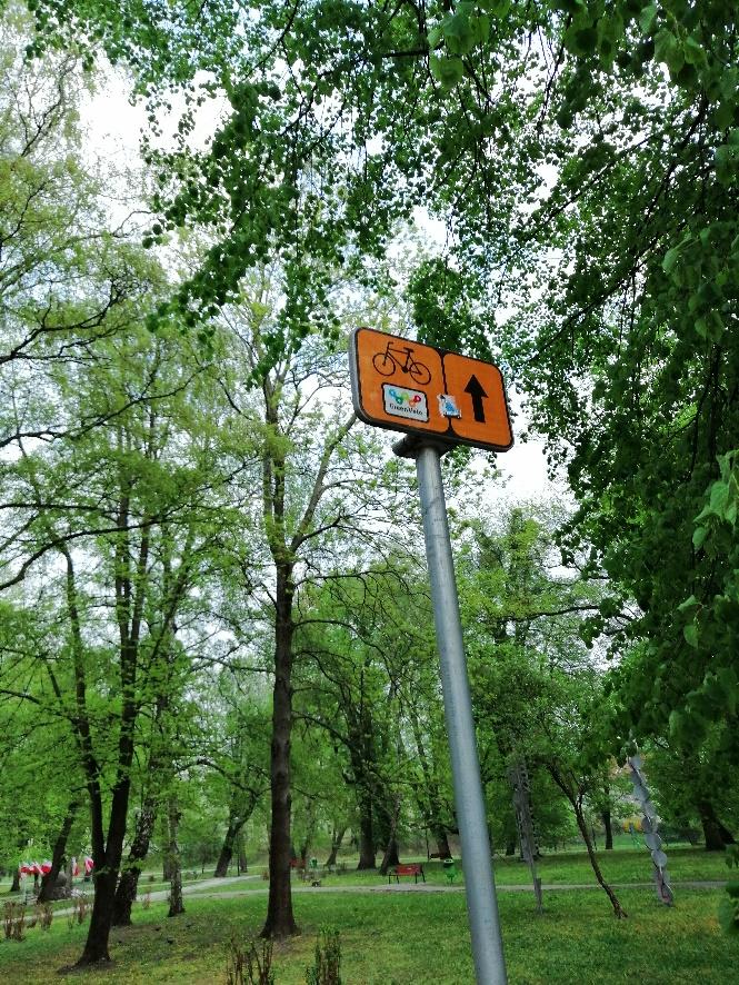 znak rowerowy green velo